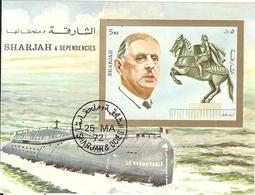 Sharjah- Charles De Gaulle- Sous Marin Le Redoutable - De Gaulle (Général)