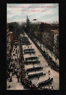 Melbourne,Australia-Naval Parade Of American Soldiers, Aug 31,1908 - Antique Postcard - Australia