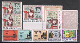 VATICANO:  1981  COMMEMORATIVI  -  4  S. CPL. N. -  SASS. 688//696 - Nuovi