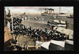 Melbourne,Australia-Disembarking At Port Melbourne, Aug 31,1908 - Antique Postcard - Australia