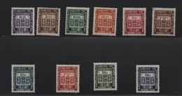 INDE  TAXE N° 19/28 * - Indien (1892-1954)