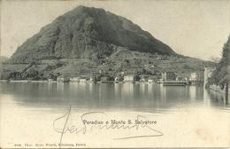 Lugano Paradiso (Ticino, Svizzera) Panorama E Monte San Salvatore, Vue Generale Et M. S. Salvatore, General View - TI Tessin