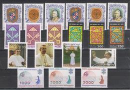 VATICANO:  1978  COMMEMORATIVI  -  6  S. CPL. N. -  SASS. 635/647 + PA. 63/65 - Vaticano