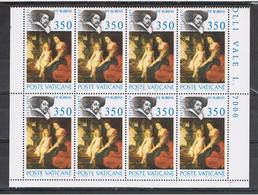VATICANO:  1977  P. P. RUBENS  -  £. 350  POLICROMO  BL. 8  N. -  SASS. 632 - Blocchi E Foglietti