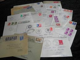 Lot  De  22  Lettres - Entiers Postaux