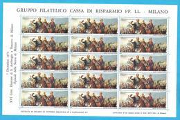 Erinnofilo 1974 CARIPLO Episodi Della Storia Di Milano V. Emanuele II Napoleone - Erinnofilia