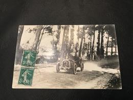 Carte Photo - 24h Du Mans 1911 (Grand Prix Automobile De France)  Corre La Licorne - Maurice Fournier (Accident Mortel) - Le Mans