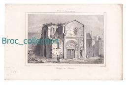 Abbaye De Charlieu, Gravure D'Augustin François Lemaître, Gaucherel - Estampes & Gravures