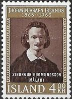 ICELAND 1963 Centenary Of National Museum - 4k S. Gudmundsson (scholar And Curator) MNG - 1944-... Republique