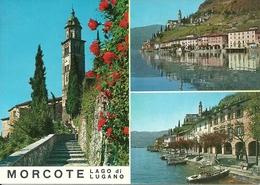 Morcote (Ticino, Svizzera) Chiesa E Vedute E Scorci Panoramici, Vues Panoramiques, Panoramic Views - TI Tessin