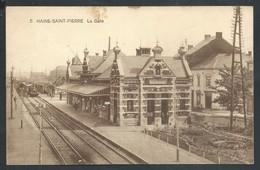 +++ CPA - HAINE SAINT PIERRE - La Gare - Statie - Train Trein   // - La Louvière