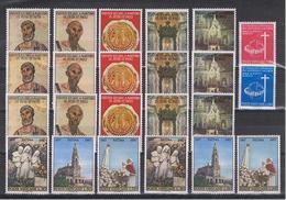 VATICANO:  1967/68  COMMEMORATIVI  -  14 S. CPL. N. -  SASS. 448//466 + P.A. 13/14 + TX  25/30 - Vaticano