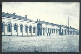 +++ CPA - MOUSCRON - MOESKROEN - Extérieur Gare Des Voyageurs - Statie   // - Mouscron - Moeskroen