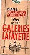 Exposition Coloniale 1931...offert Par Les Galeries Lafayette - Technical Plans