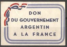 France - Publicity Argentin . - Commemorative Labels