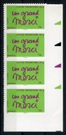 RC 12504 FRANCE N° 205 / 3761 UN GRAND MERCI BANDE DE 4 AUTOADHÉSIFS COTE 12,00€ TB - France