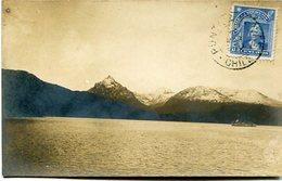 BARCO EN EL OCEANO PACIFICO CON LA CORDILLERA DE LOS ANDES DE FONDO. POSTAL CPA POSTALE CIRCULE CIRCA 1910's - LILHU - Non Classés