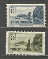 SAN PEDRO Y MIQUELON YVERT NUM. 187 188 * NUEVOS CON FIJASELLOS - Nuevos