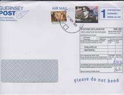 ALDERNEY Et GUERNESEY, Affranchissement Mixte, George VI, Corail, Vie Marine, Sur Lettre 2009 - Alderney