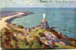 PIRIAPOLIS - LA VIRGEN. URUGUAY POSTAL CPA POSTALE CIRCULE 1928 - LILHU - Uruguay