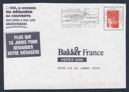 France Rep. Française 1997 Bande D'adresse / Adressstreifen- La Hague, Toujours à La Pointe - Patrimoine / Erbe - Vakantie & Toerisme