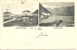 San Gottardo (Ticino, Svizzera) Vues: Gotthardhospiz Et Lucendrosee, Views, Vedute - TI Tessin