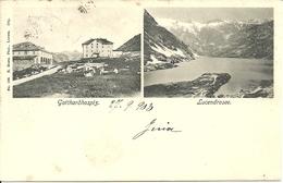 San Gottardo (Ticino, Svizzera) Vues: Gotthardhospiz. Et Lucendrosee, Views, Vedute - TI Ticino