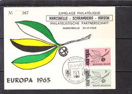 1043/4 FDC BELGIQUE 1965 Jumelage Marcinelle -Schramberg -Hirson - Europa-CEPT
