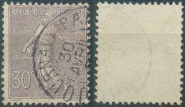 Frankreich, Mi.Nr. 112 Gestempelt, Säerin, 30 Centimes - 1903-60 Säerin, Untergrund Schraffiert