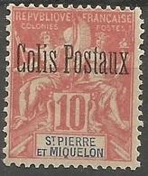 SAN PEDRO Y MIQUELON COLIS POSTAUX YVERT NUM. 2 * NUEVO CON FIJASELLOS - St.Pedro Y Miquelon