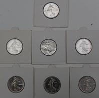 FRANCE  7 X 1 FRANC 1960,61,64,65,66,68 ET 69  TRES BELLE ETAT  VOIR 2 SCANS - Frankrijk