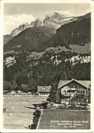"""Champery (Valais, Svizzera) Hotel Pension """"Beau Site"""" Scorcio Panoramico E Campi Tennis, Panoramic View - VS Valais"""