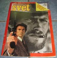 Clint Eastwood - SVET - Yugoslavia December 1986 VERY RARE - Books, Magazines, Comics