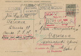 WARSZAWA - 1934 ,  Druckvermerk: III-1933  -  Karta Pocztowa - Ganzsachen
