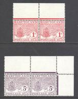 Basutoland Scott J9/J10 - SG D9/D10, 1964 Postage Due Set In Marginal Pairs MNH** - 1933-1964 Kronenkolonie