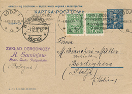 LODZ - 1931 ,  Druckvermerk: V-1931 -  Karta Pocztowa  Nach Bordighera / IT - Ganzsachen