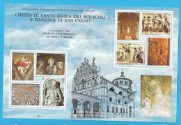 Erinnofilo 1995 ANFE Festa S. Ambrogio Le Chiese Di Milano S. Maria E San Celso - Erinnofilia