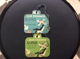 2  ETIQUETTES  A  BAGAGES  Air France  ANNÉES *1959 *1965 - Baggage Labels & Tags