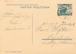 WIELUN - 1936 ,  Druckvermerk: XI-1936 -  Karta Pocztowa  Nach Cietochowa - Ganzsachen