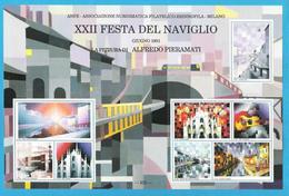 Erinnofilo 1991 ANFE La Pittura Di Alfredo Pieramati Milano XXII Festa Naviglio - Erinnofilia