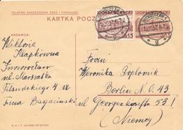 INOWROCLAW - 1937 ,  Druckvermerk:  XI-1936  -  Karta Pocztowa  Nach Berlin - Ganzsachen