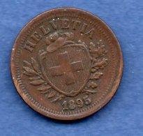Suisse - 1 Rappen 1895 B    --  Km # 3.1   état TTB - Suisse