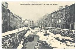 Cpa Saint André De Valborgne - Les Quais ( Effet De Neige ) - France