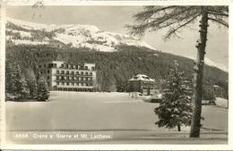 Crans S Sierre (Valais, Svizzera) Vue Hotels Et Mt. Lachaux, View Of The Hotels And The Mt. Lachaux - VS Valais