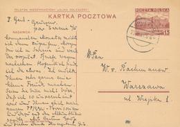 GRUCZNO - 1937 ,  Druckvermerk:  XI-1936  -  Karta Pocztowa  Nach Warszawa - Ganzsachen