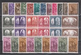 VATICANO:  1966  COMMEMORATIVI  -  6 S. CPL. N. -  SASS. 423//447 - Vaticano