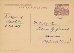 OZORKOW - 1937 ,  Druckvermerk:  X-1937  -  Karta Pocztowa  Nach Warszawa - Ganzsachen