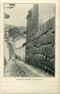 ANCIENT STREET OF CUZCO, PERU. POSTAL POSTALE CPA CIRCA 1900's NON CIRCULE- LILHU - Perú