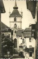 Estavayer (Fribourg, Svizzera) Coin Et Clocker De L'Eglise, Scorcio Panoramico E Campanile Chiesa - FR Fribourg