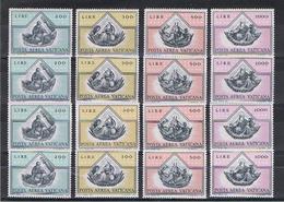 VATICANO:  1971  4  EVANGELISTI  P.A. -  S. CPL. 4  VAL. N. -  RIPETUTA  4  VOLTE  -  SASS. 55/58 - Poste Aérienne